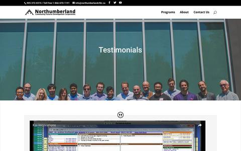 Screenshot of Testimonials Page financingandstrategy.com - Testimonials | Financing and Strategy for Entrepreneurs - captured Dec. 27, 2016
