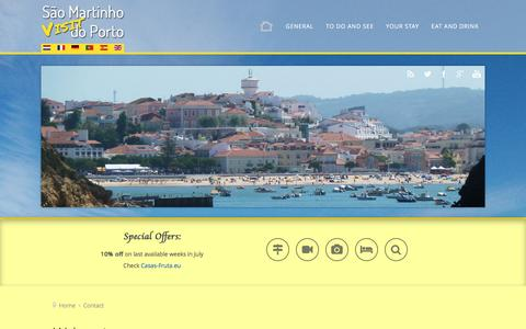 Screenshot of Contact Page visit-sao-martinho-do-porto.com - Contact - Visit São Martinho do Porto - captured June 7, 2016