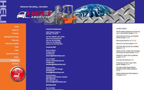 Screenshot of Contact Page heliamericas.com - Heli Americas | Dealers - captured Sept. 29, 2014