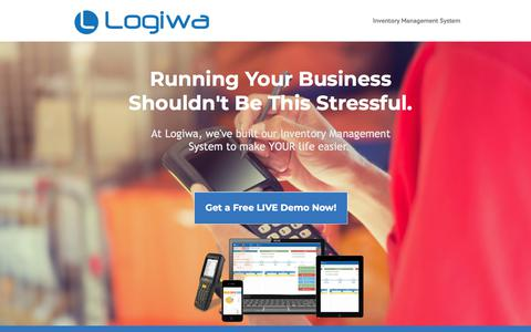 Screenshot of Landing Page logiwa.com - All-in-one Multi-channel Inventory Management System on Cloud - captured May 29, 2018