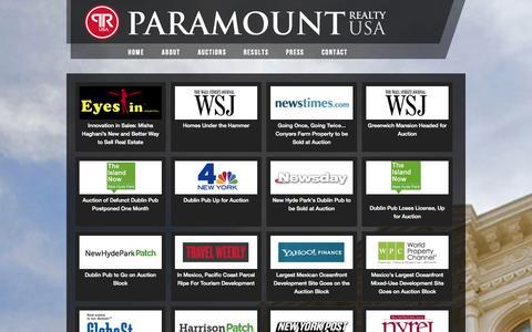 Screenshot of Press Page prusa.com - Press - Paramount Realty USA - captured Oct. 1, 2014