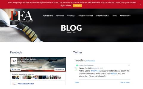 Screenshot of Blog pea.com - Blog | Phoenix East Aviation - captured Nov. 6, 2016