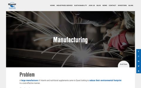 Manufacturing - Quest Resource Management Group