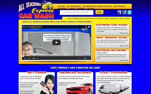 Screenshot of Home Page allseasonscarwashnj.com - Welcome to All Seasons Express Car Wash of Magnolia  NJ 08049 - captured Oct. 8, 2014