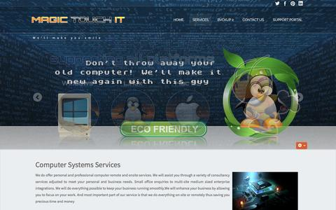 Screenshot of Services Page magictouchit.com.au - Computer services in Dee Why, Sydney - captured Nov. 18, 2016