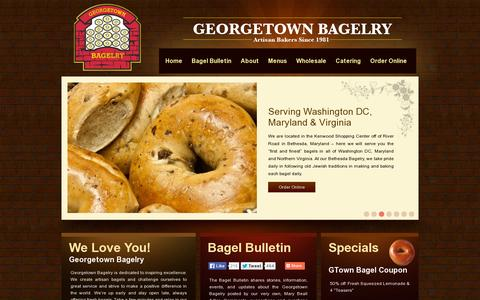 Screenshot of Home Page georgetownbagelry.com - Georgetown Bagelry - captured July 11, 2014