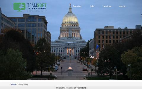 Screenshot of Privacy Page teamsoftinc.com - Privacy Policy - TeamSoft, Inc. - captured Sept. 20, 2018
