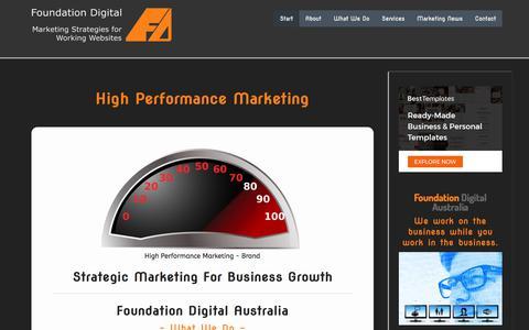 Screenshot of Home Page foundationdigital.com.au - Foundation Digital Australia Best Practice Marketing Plans - captured Aug. 17, 2018