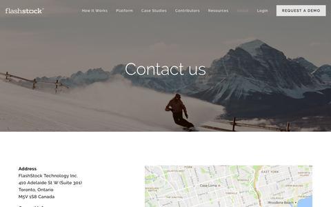 Screenshot of Contact Page flashstock.com - Contact - captured Aug. 4, 2016