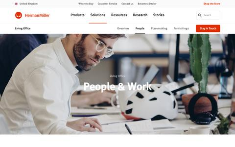 Screenshot of Team Page hermanmiller.com - Living Office – People & Work – Herman Miller - captured Oct. 19, 2018