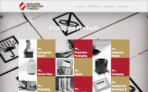 Screenshot of Products Page pdachain.com - Packaging Products | Packaging Distributors of America (PDA) - captured Oct. 1, 2014