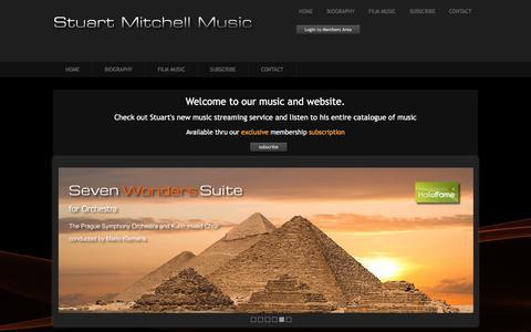 Screenshot of Home Page stuart-mitchell.com - Stuart Mitchell - UK Pianist, Composer and Producer - captured Feb. 28, 2017