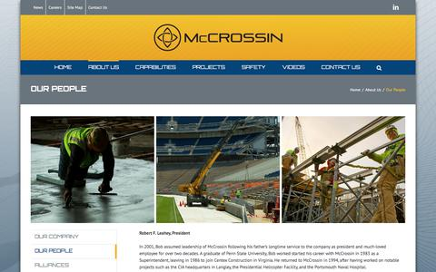 Screenshot of Team Page mccrossin.com - Our People - McCrossin Corporate Site - captured Oct. 18, 2017