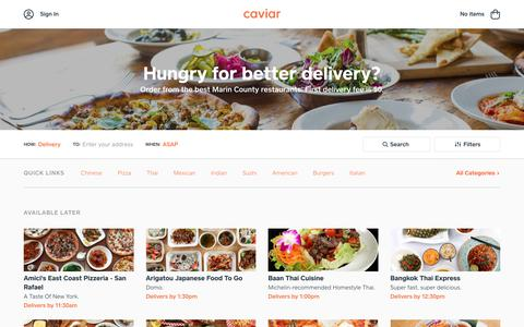 Food Delivery - Marin County Restaurants | Caviar