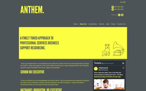 Screenshot of Testimonials Page anthemconsulting.co.uk - People Singing Our Praises | Testimonials - Anthem Consulting - captured July 30, 2018
