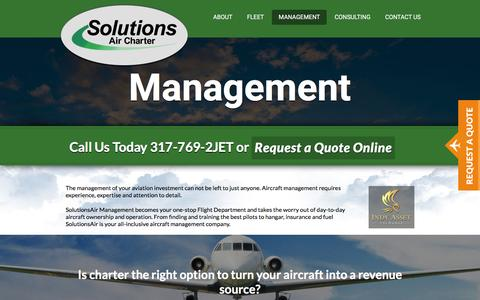 Screenshot of Team Page solutionsair.com - Management - Solutions Air : Solutions Air - captured Feb. 15, 2016