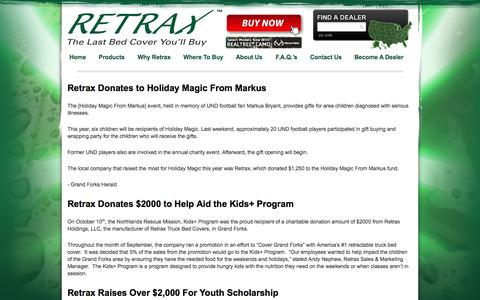 Screenshot of Press Page retrax.com - News | Retrax - captured Oct. 9, 2014