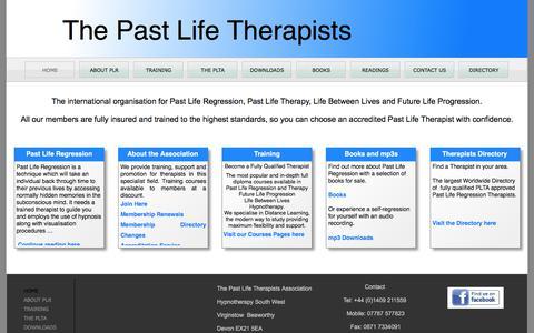Screenshot of Home Page pastliferegression.co.uk - Past Life Regression - captured Dec. 17, 2017