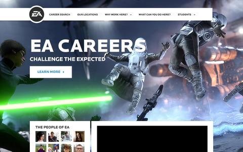 Screenshot of Jobs Page ea.com - Home | EA Careers - captured Dec. 11, 2015