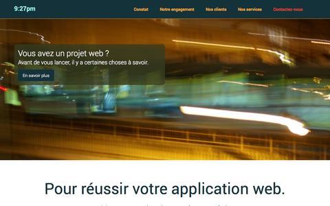 Screenshot of Home Page 927.pm - 9:27PM   Nous vous aidons à réussir vos projets WEB - captured Oct. 9, 2014