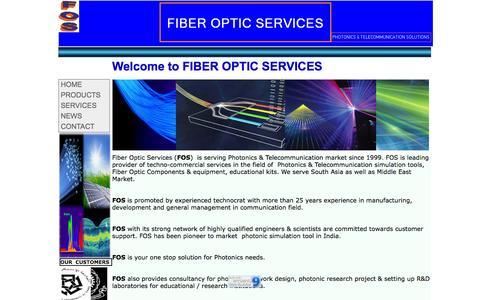 Screenshot of Home Page foservice.com - FIBER OPTIC SERVICES - captured Oct. 6, 2014
