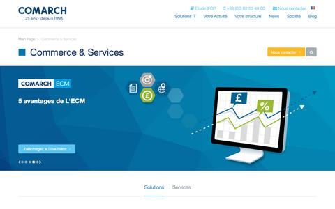 Screenshot of Services Page comarch.fr - Commerces & Services | Comarch | - captured Sept. 24, 2018