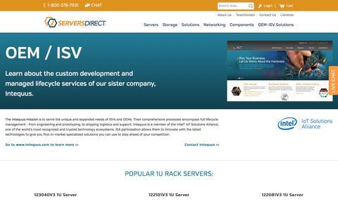 OEM-ISV Storage Servers