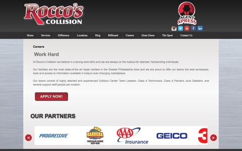 Screenshot of Jobs Page roccoscollision.com - Careers - Rocco's Collision - captured Oct. 22, 2017