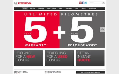 Screenshot of Home Page honda.co.nz - Honda New and Used Cars and SUVs » HomeCommitment » Honda New Zealand - captured Sept. 25, 2014