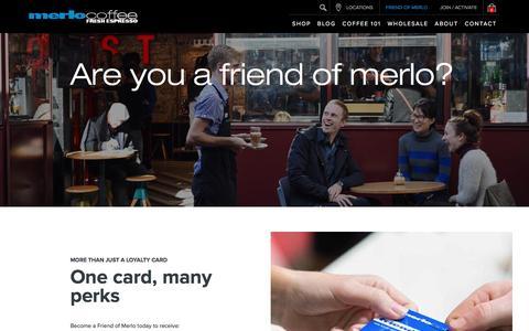 Screenshot of Signup Page merlo.com.au - Friends Of Merlo | Merlo Coffee - captured Nov. 28, 2016