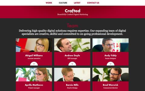 Screenshot of Team Page crafted.co.uk - Meet the Team   Crafted - Ipswich, Suffolk - captured Sept. 25, 2014