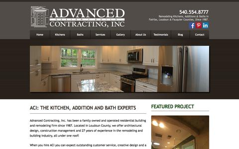 Screenshot of Home Page Site Map Page aciremodel.com - Advanced Contracting, Inc. | - captured Oct. 4, 2014