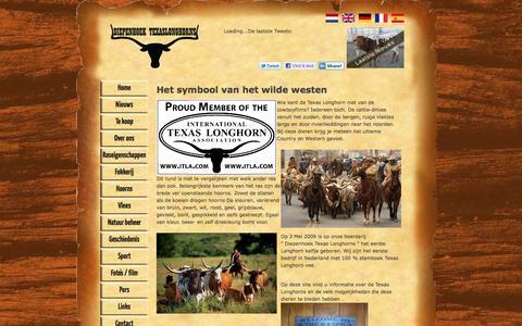 Screenshot of Home Page texaslonghorn.nl - Texaslonghorn.nl - captured Sept. 25, 2016