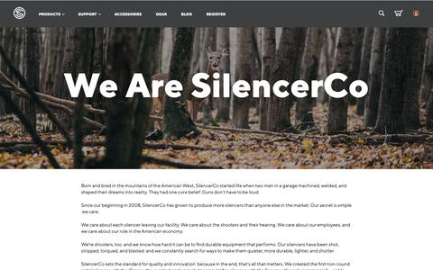 Screenshot of About Page silencerco.com - We Are SilencerCo - captured April 10, 2019