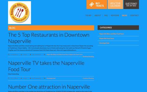 Screenshot of Blog napervillefoodtours.com - blog | Naperville Food Tours - captured Nov. 28, 2016