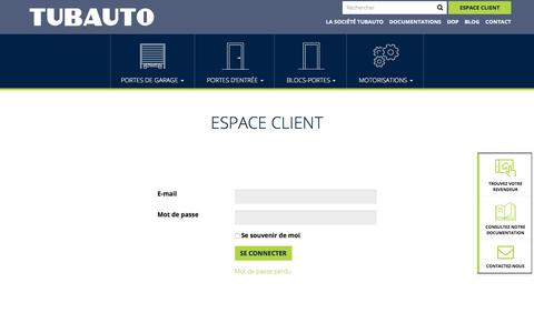 Screenshot of Login Page tubauto.fr - Se connecter - Tubauto - captured Nov. 12, 2017