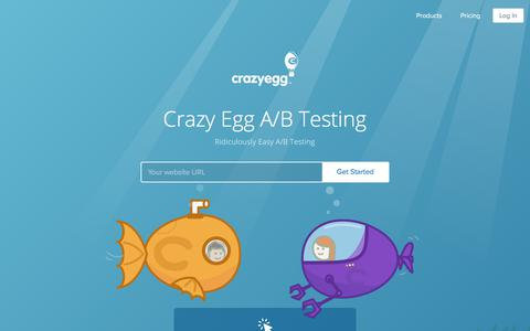 Screenshot of crazyegg.com - A/B Testing Tool by Crazy Egg - Ridiculously Easy to Use, Try it Free. - captured Oct. 19, 2017
