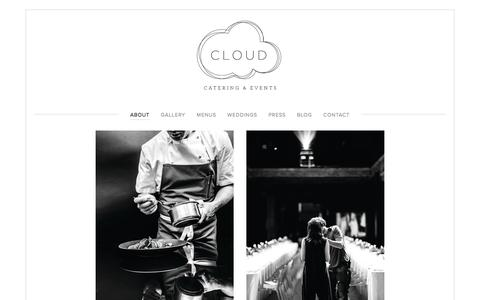 Screenshot of About Page cloudcateringny.com - About — Cloud Catering & Events - captured Nov. 7, 2016