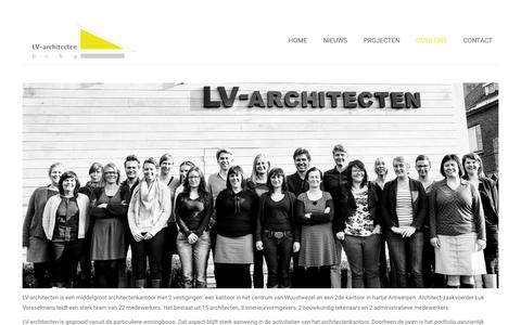 Screenshot of About Page lv-architecten.be - Over ons |  LV Architecten - captured April 17, 2016