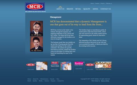 Screenshot of Team Page mcrtextiles.in - MCR - The Largest Selling Textile Brand - captured Sept. 30, 2014