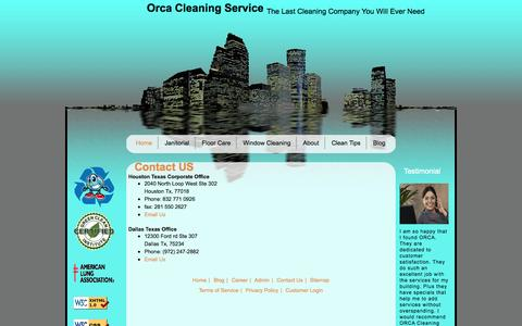 Screenshot of Contact Page orcacleaningservices.com - Contact Orca Cleaning Services Houston - captured Oct. 9, 2014