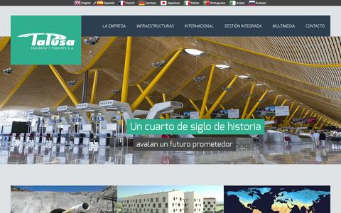 Screenshot of Home Page tapusa.es - Tapusa - captured Oct. 7, 2014