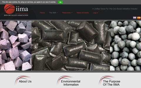 Screenshot of About Page metallics.org.uk - About Us | International Iron Metallics Association - captured Oct. 6, 2014