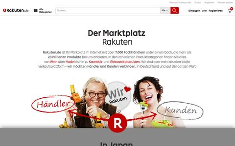 Screenshot of About Page rakuten.de - Rakuten.de - Ihr Einkaufszentrum im Internet - captured Aug. 20, 2016