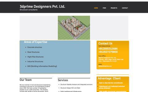 Screenshot of Home Page 3dprime.com - 3dprime - captured Aug. 14, 2015