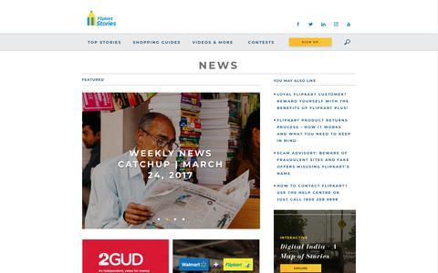 Screenshot of Press Page flipkart.com - News Archives - Flipkart Stories - captured Sept. 19, 2018