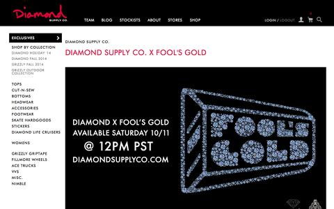 Screenshot of Press Page diamondsupplyco.com - Diamond Supply Co. - captured Oct. 10, 2014