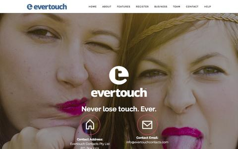 Screenshot of Contact Page evertouchcontacts.com - evertouch Contact - captured Oct. 2, 2014