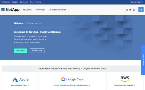 Screenshot of netapp.com - NetApp: Data Services for Hybrid Cloud - captured Sept. 20, 2018
