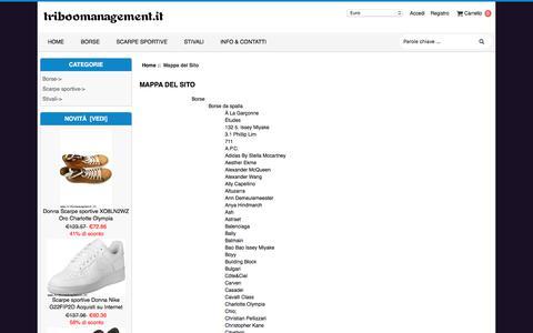 Screenshot of Site Map Page triboomanagement.it - Mappa del Sito : Negozio di scarpe.Stivali di pelle di moda,Scarpe casual,Scarpe da corsa di tendenza - captured Nov. 9, 2017